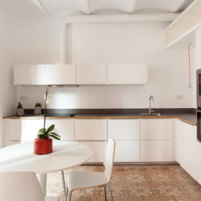 кухня с вентиляционным коробом минимализм