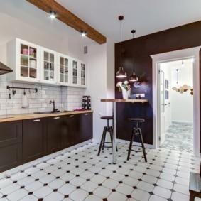 плитка для кухни на пол идеи
