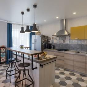 плитка для кухни на пол идеи дизайн