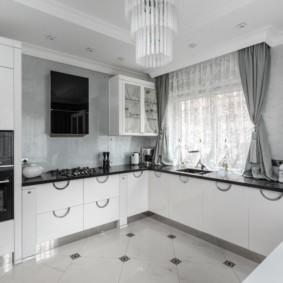 плитка для кухни на пол виды фото