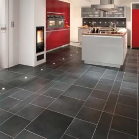 плитка для кухни на пол дизайн