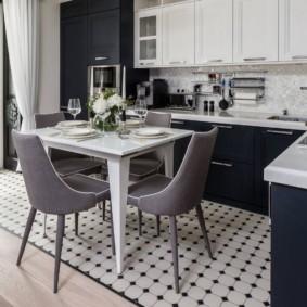 плитка для кухни на пол дизайн фото