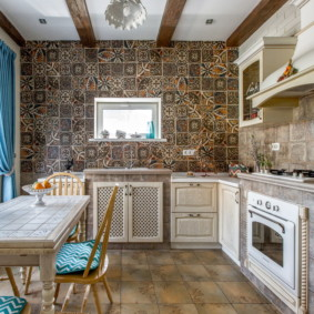 плитка для кухни на пол фото дизайна