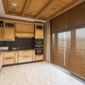 плитка для кухни на пол фото интерьер