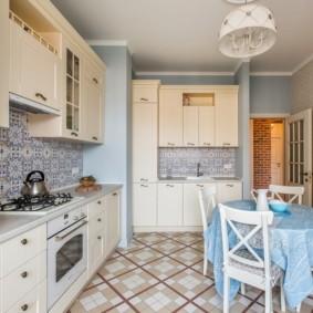 плитка для кухни на пол фото оформления
