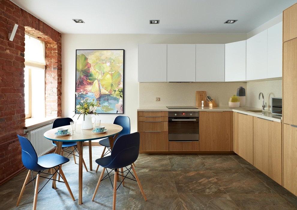 плитка для кухни на пол фото вариантов