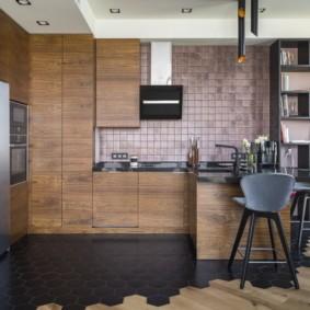плитка для кухни на пол фото варианты