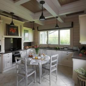 плитка для кухни на пол фото виды