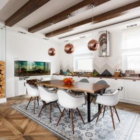 плитка для кухни на пол идеи декора