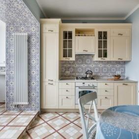 плитка для кухни на пол идеи дизайна