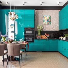 плитка для кухни на пол идеи интерьер