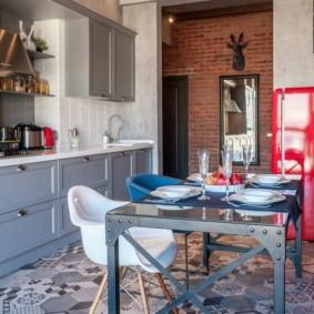 плитка для кухни на пол идеи интерьера