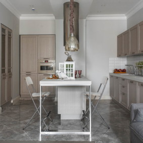 плитка для кухни на пол идеи видов