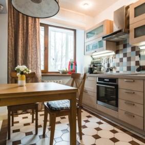 плитка для кухни на пол оформление фото