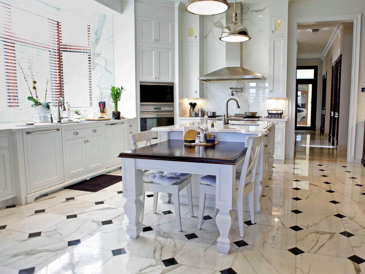 плитка для кухни на пол оформление идеи