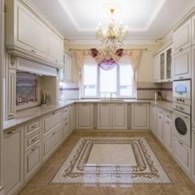 плитка для кухни на пол варианты фото
