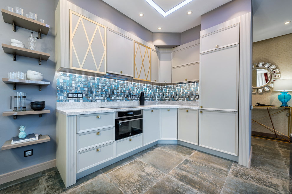 плитка для кухни на пол варианты