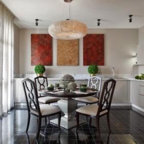 плитка для кухни на пол виды идеи