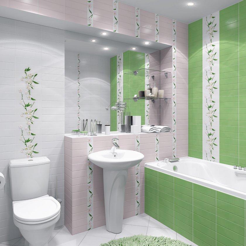 плитка для ванной комнаты декор