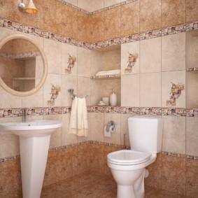 плитка для ванной комнаты фото декор