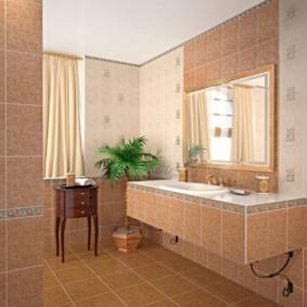 плитка для ванной комнаты идеи интерьер