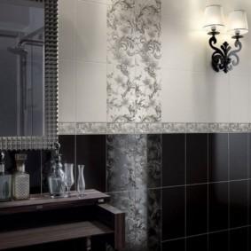 плитка для ванной комнаты идеи вариантов