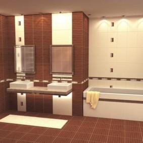 плитка для ванной комнаты идеи видов