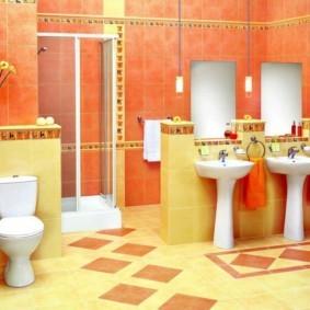 плитка для ванной комнаты оформление