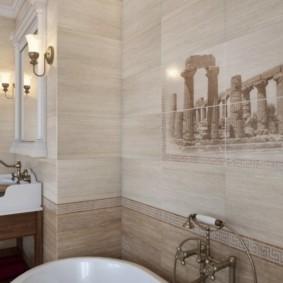 плитка для ванной комнаты оформление идеи