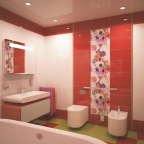 плитка для ванной комнаты виды