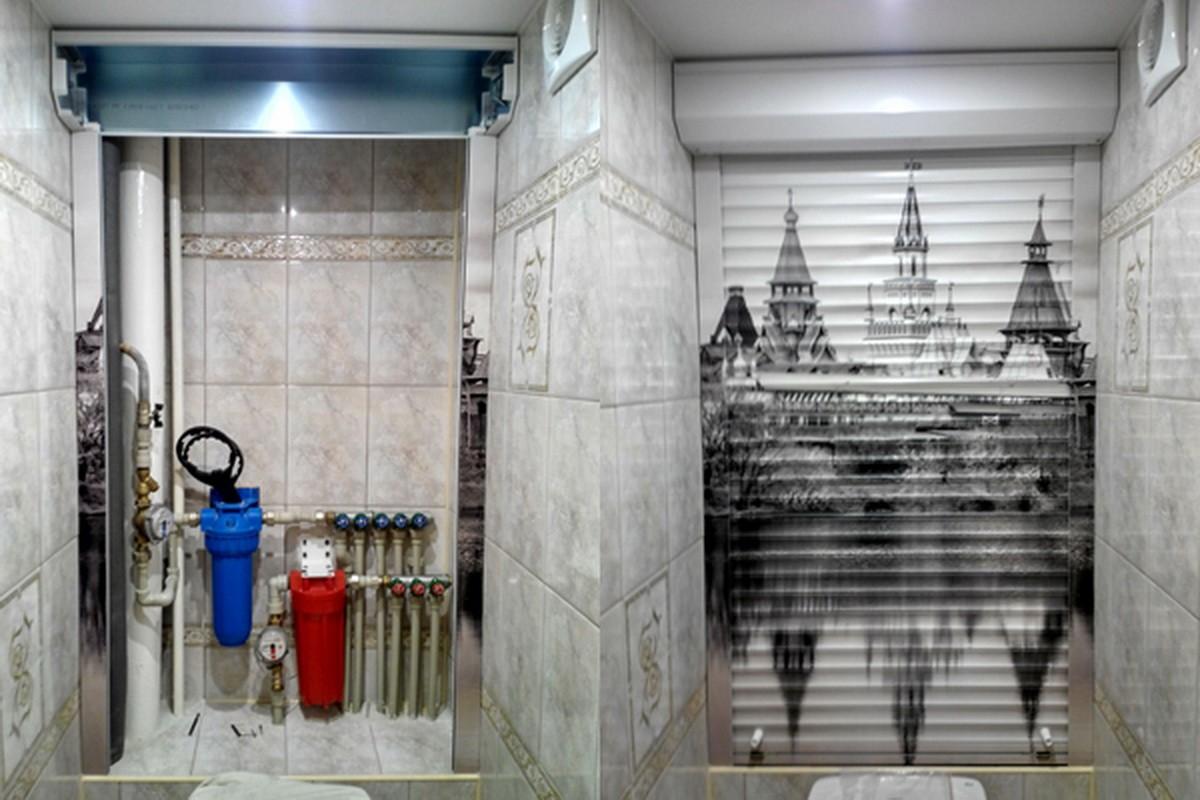 рольставни в туалете фото идеи