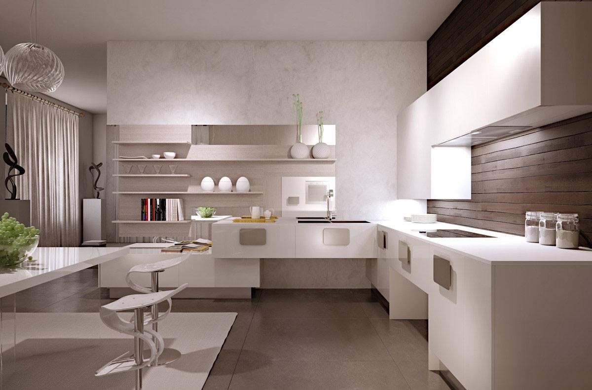 полки на кухне вместо навесных шкафов дизайн идеи