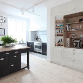 полки на кухне вместо навесных шкафов фото интерьера
