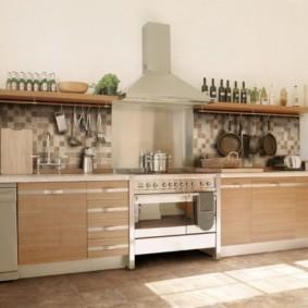 полки на кухне вместо навесных шкафов идеи декор