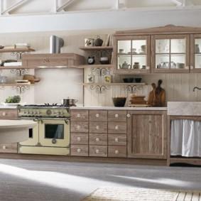 полки на кухне вместо навесных шкафов идеи интерьер