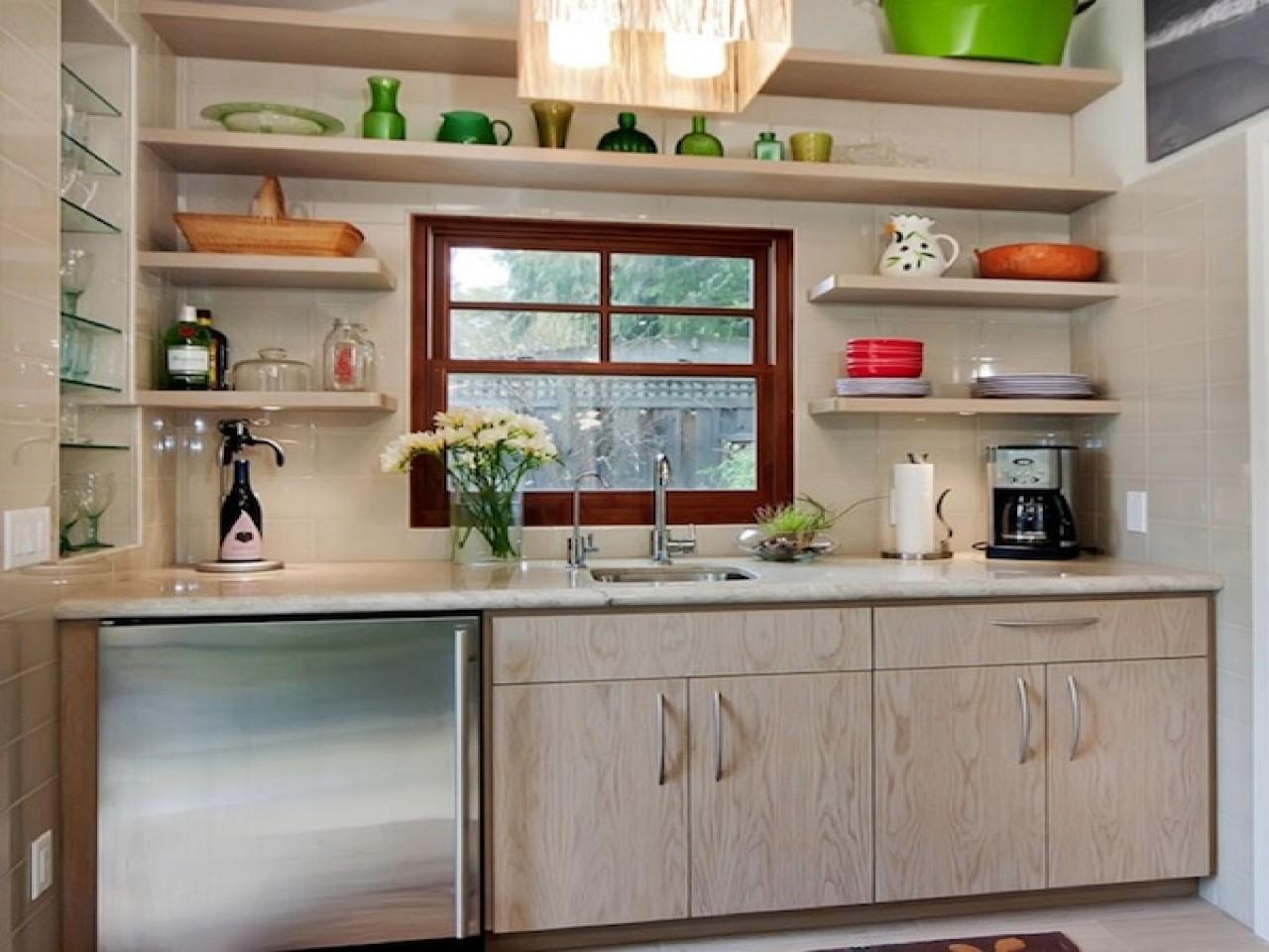 самые красивые кухни с полками фото отличие