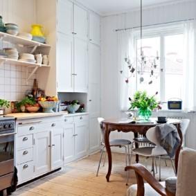 полки на кухне вместо навесных шкафов фото вариантов