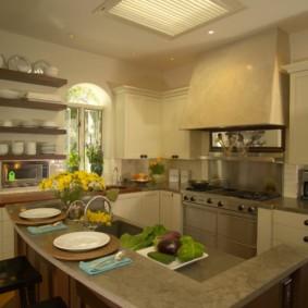 полки на кухне вместо навесных шкафов фото варианты
