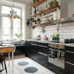 полки на кухне вместо навесных шкафов идеи