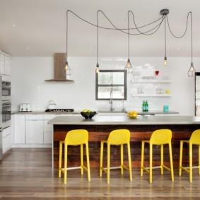 полки на кухне вместо навесных шкафов варианты