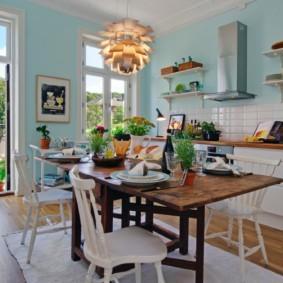 полки на кухне вместо навесных шкафов виды