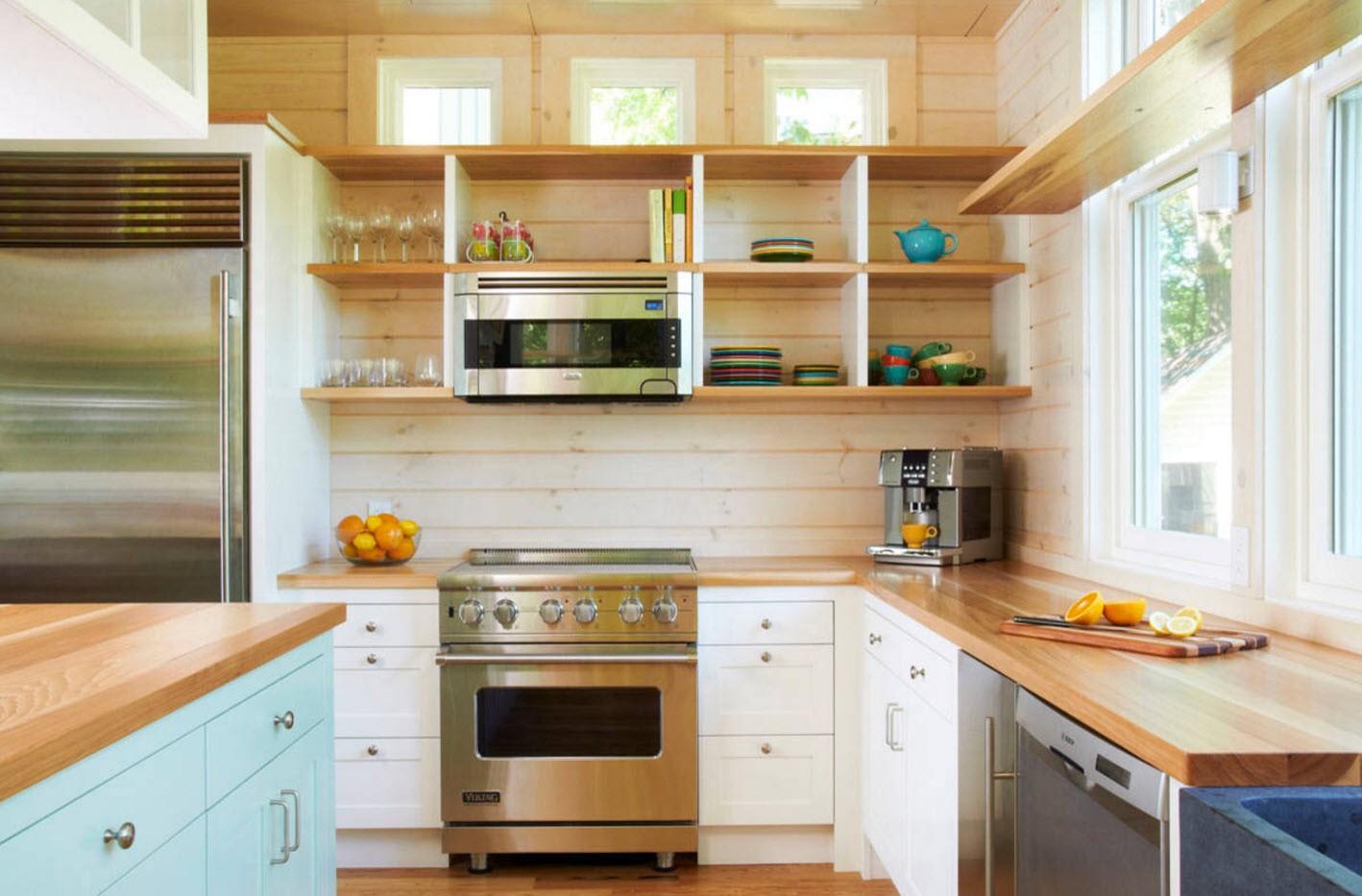 полки на кухне вместо навесных шкафов виды фото