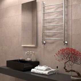 Интерьер ванной комнаты в японском стиле