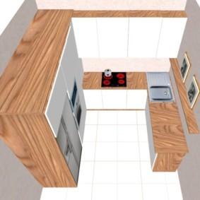 Дизайн П-образного гарнитура для кухни