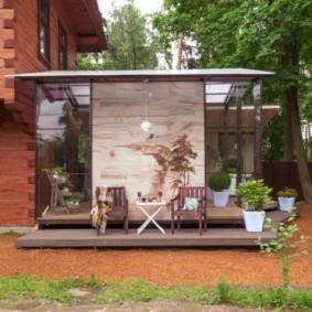 Летняя кухня на загородном участке