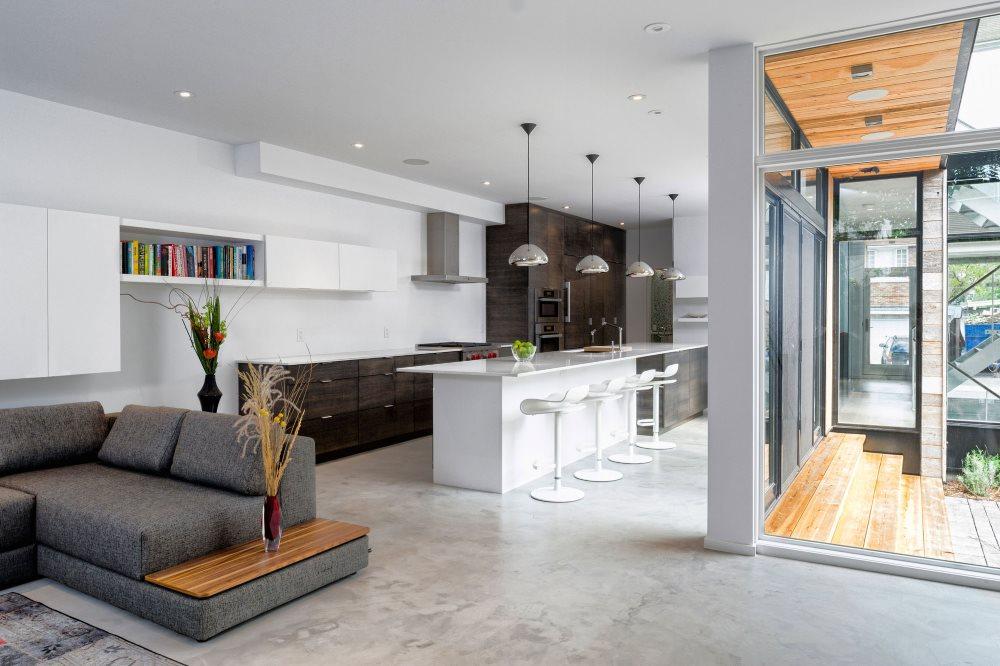 Зонирование кухни-гостиной 40 кв метров в частном доме