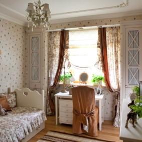 Детская комната в стиле прованс в квартире
