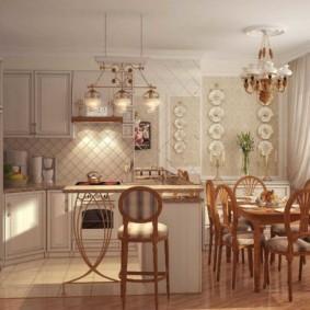 Дизайн кухни в квартире в стиле прованс