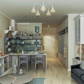 Небольшая квартира-студия в духе прованса