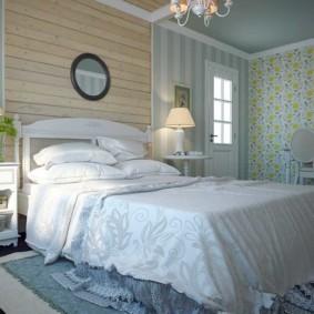 Натуральный текстиль в интерьере спальни прованс